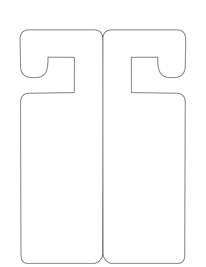 007 Singular Free Printable Door Hanger Template High Def  Templates Wedding EditableFull