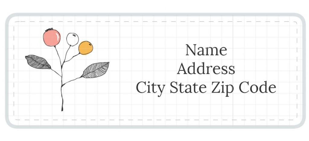 007 Singular Free Printable Shipping Label Template Design  For WordLarge