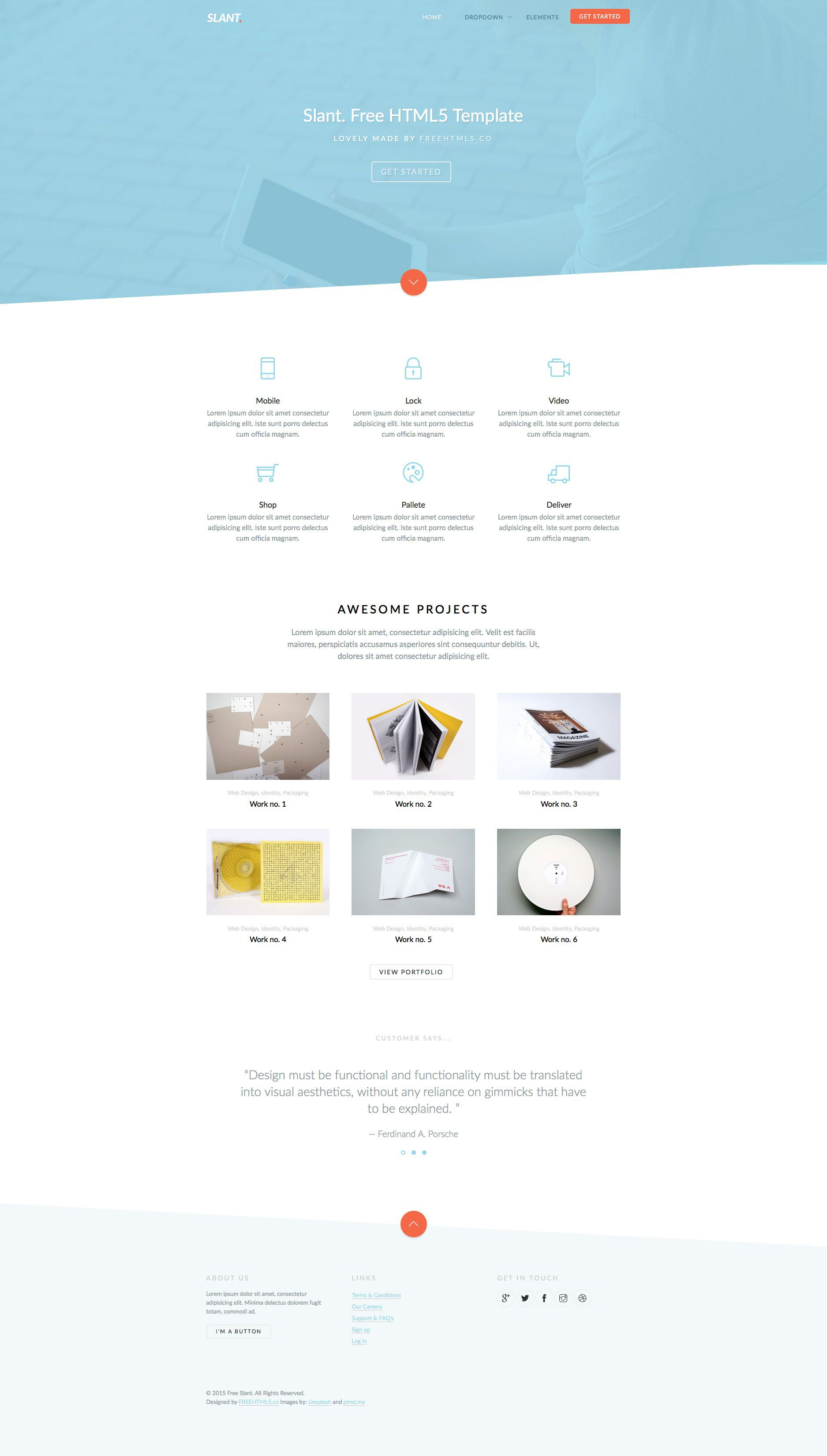 007 Singular Free Web Template Download Html And Cs Jquery High Def  Website Slider Responsive For It CompanyFull