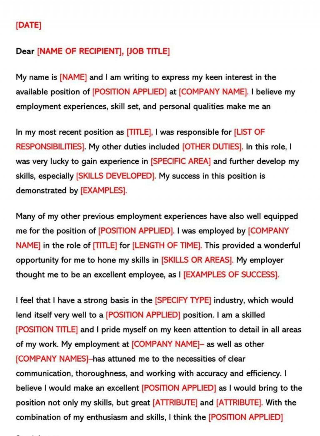 007 Singular Good Email Cover Letter Example High Resolution  Examples 2018 AustraliaLarge