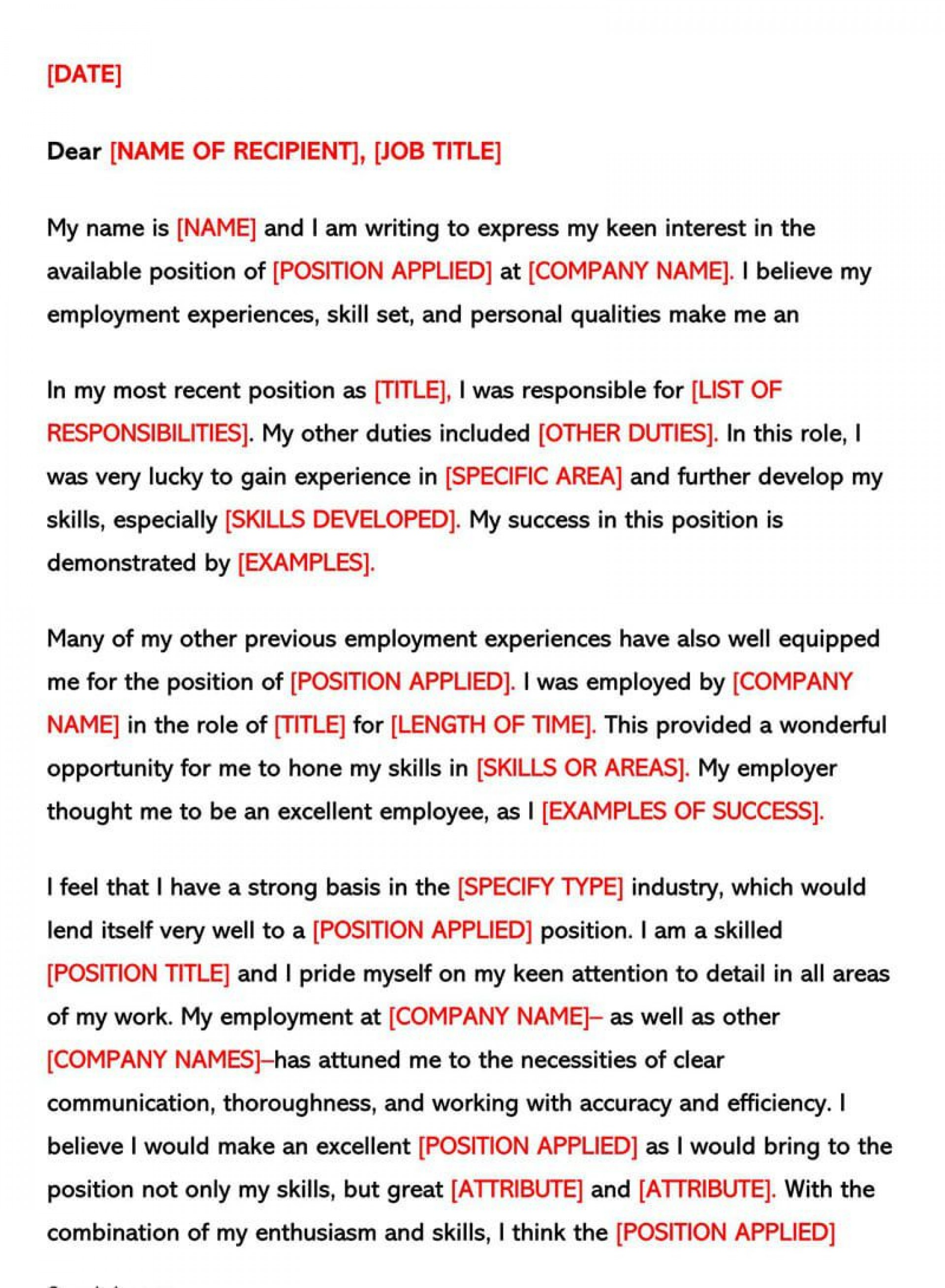 007 Singular Good Email Cover Letter Example High Resolution  Examples 2018 Australia1920