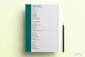 007 Singular List Personal Reference Sample Image