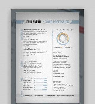 007 Singular One Page Resume Template Photo  Word Free For Fresher Ppt Download Html320