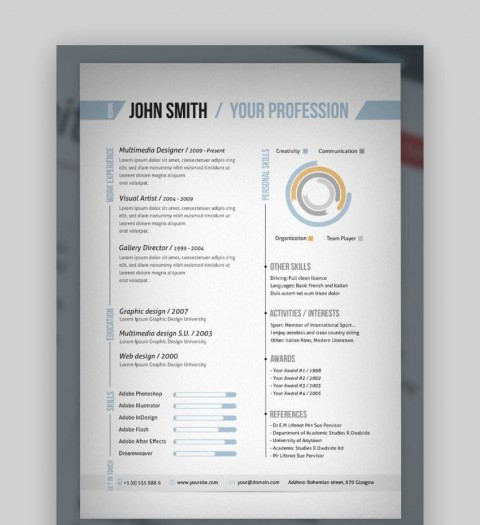 007 Singular One Page Resume Template Photo  Word Free For Fresher Ppt Download Html480