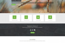 007 Singular One Page Website Template Html5 Responsive Free Download Sample