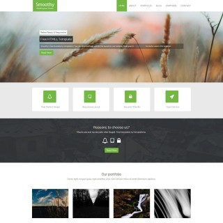 007 Singular One Page Website Template Html5 Responsive Free Download Sample 320