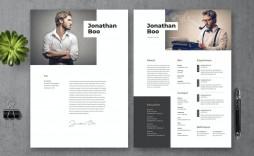 007 Singular Photoshop Cv Template Free Idea  Modern Psd Resume Download