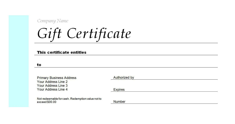 007 Singular Restaurant Gift Certificate Template High Definition  Templates Card Word Voucher FreeFull
