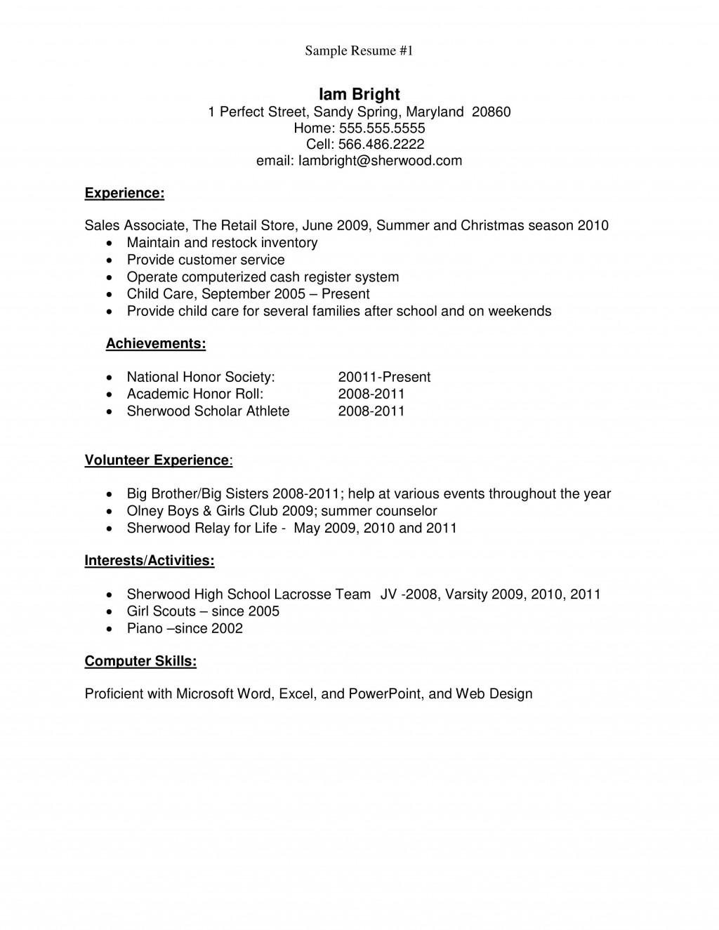 007 Singular Resume Template For First Job Design  No Experience Student Cv Nz FormatLarge