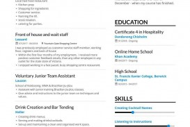007 Singular Resume Template For Teen Inspiration  Teenager First Job Australia