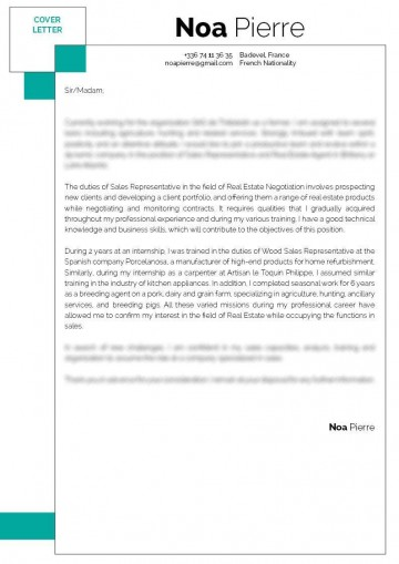 007 Singular Sale Cover Letter Template High Definition  Account Manager Word Rep360