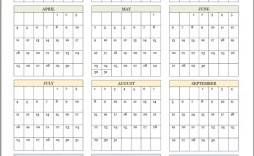 007 Singular School Year Calendar Template High Def  Excel 2019-20 Word