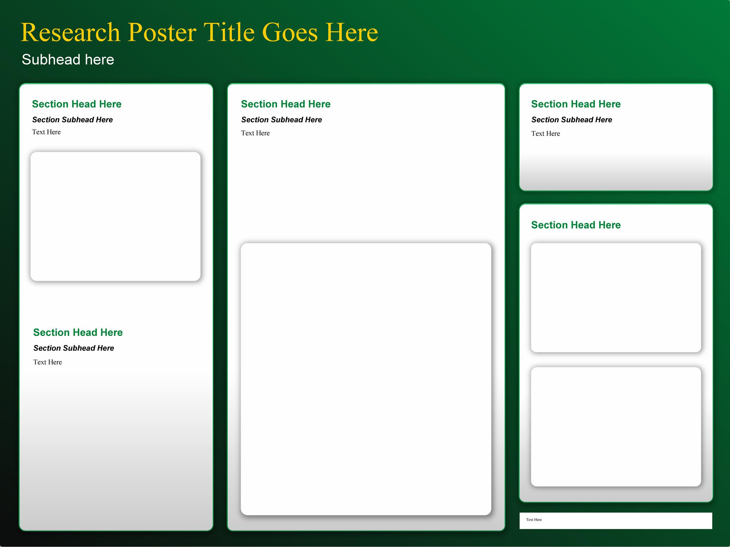 007 Singular Scientific Poster Template Free Download High Resolution  A1 CreativeFull
