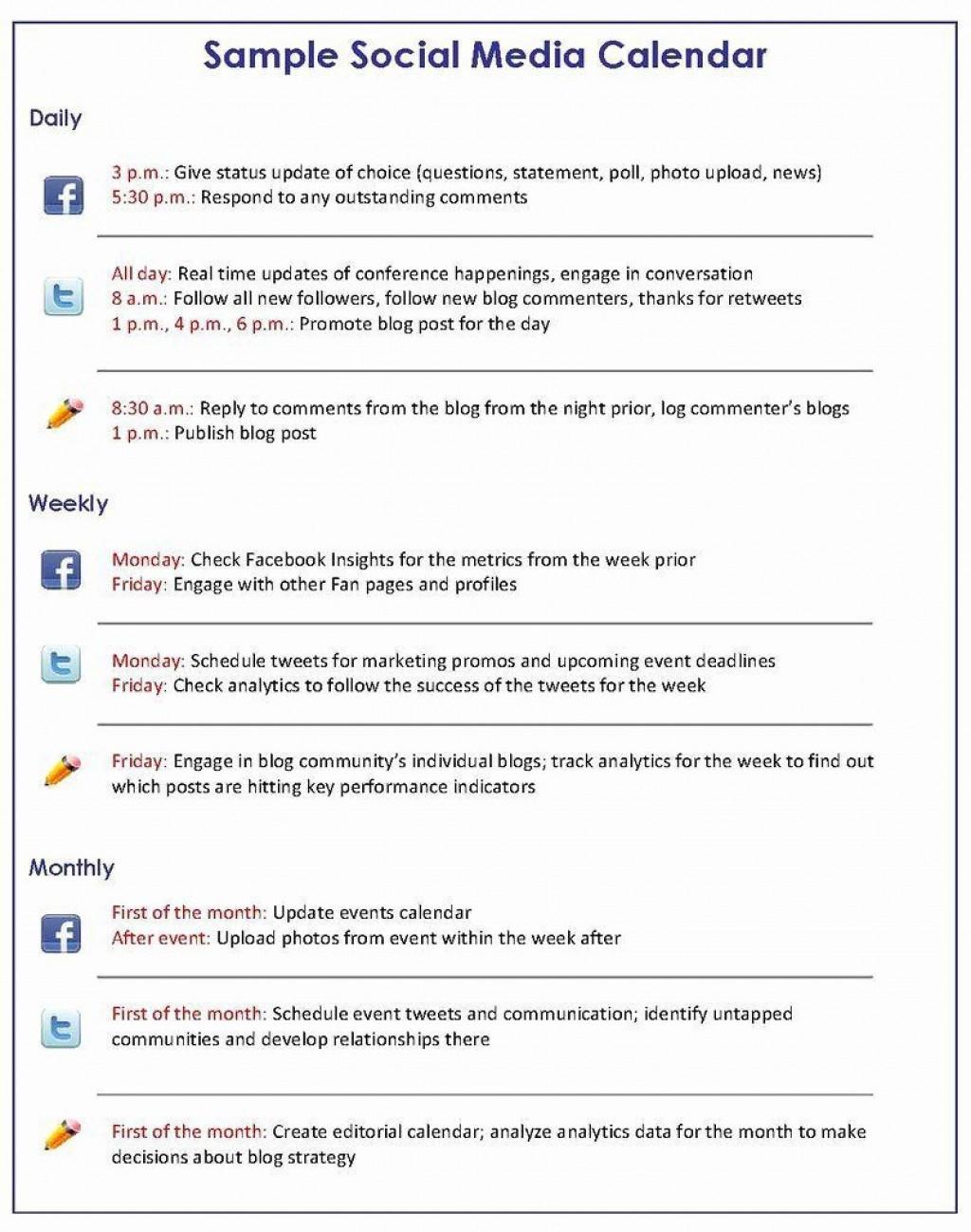 007 Singular Social Media Plan Sample Design  Marketing Template Pdf Strategy ContentLarge