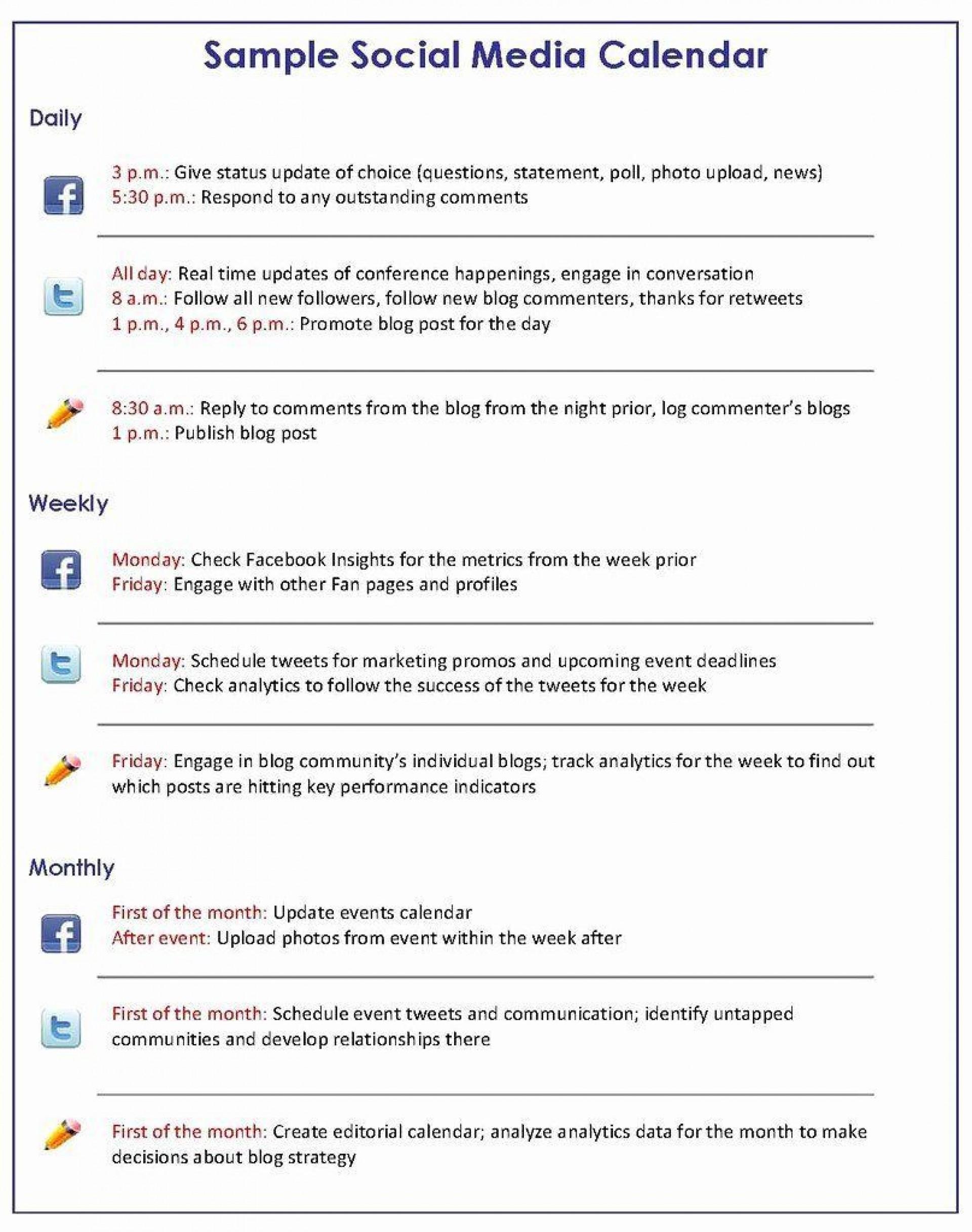 007 Singular Social Media Plan Sample Design  Marketing Template Pdf Strategy Content1920