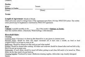 007 Singular Template For Property Rental Agreement Design  Sample Commercial