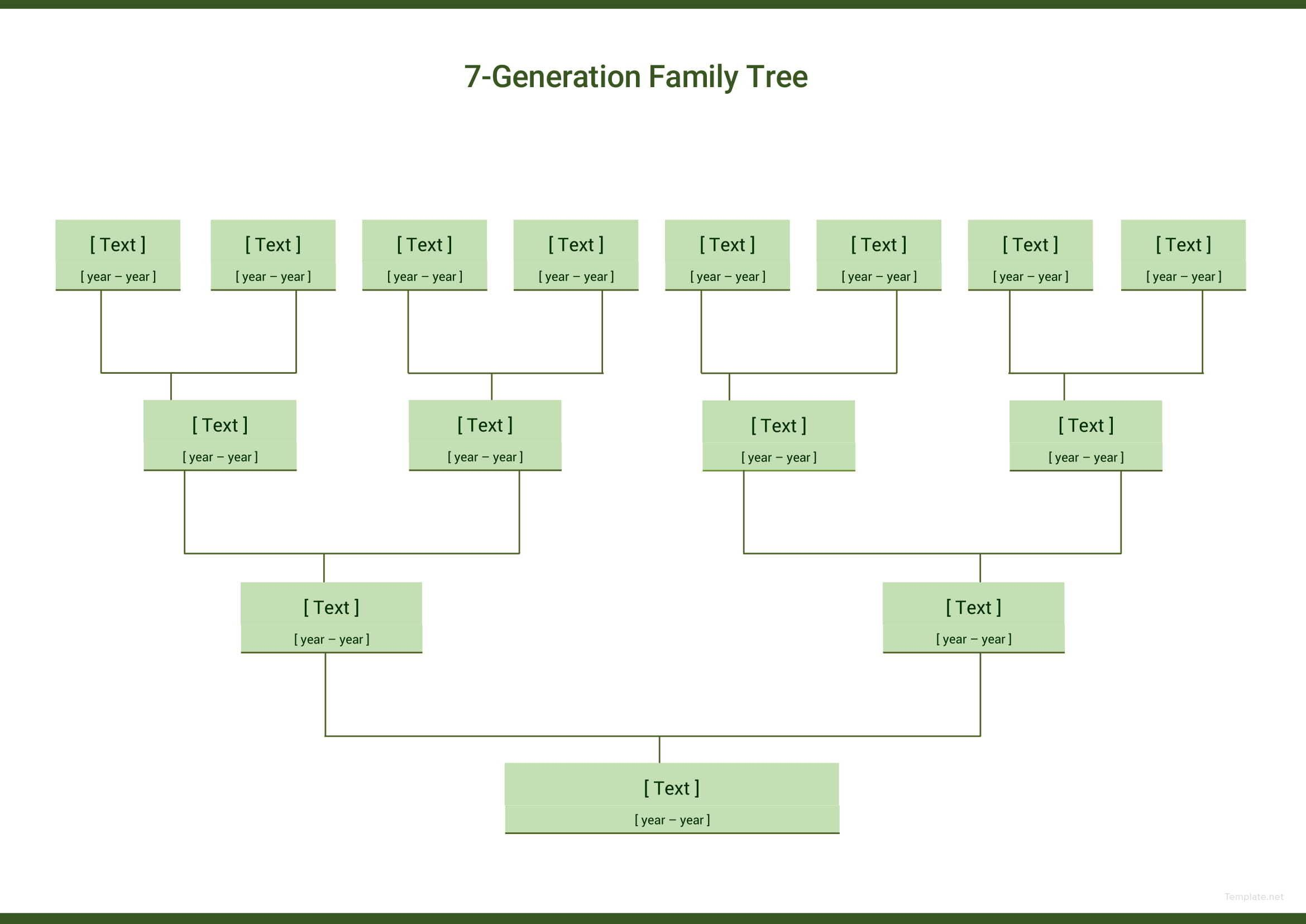 007 Staggering 7 Generation Family Tree Template High Def  Blank Free EditableFull