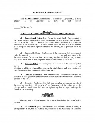 007 Staggering Busines Partnership Contract Template Example  Agreement Free Nz Word320