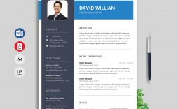 007 Staggering Creative Resume Template Word Image  Professional Free Download Example Editable