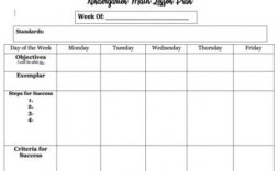 007 Staggering Editable Lesson Plan Template Kindergarten Example  Free