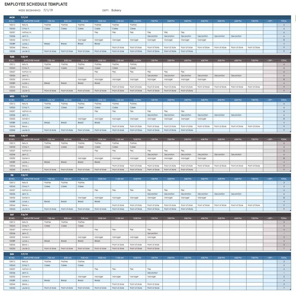 007 Staggering Employee Calendar Template Excel Sample  Staff Leave Vacation PlannerLarge