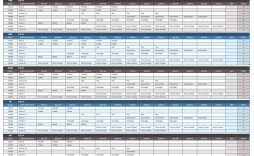 007 Staggering Employee Calendar Template Excel Sample  Staff Leave Vacation Planner