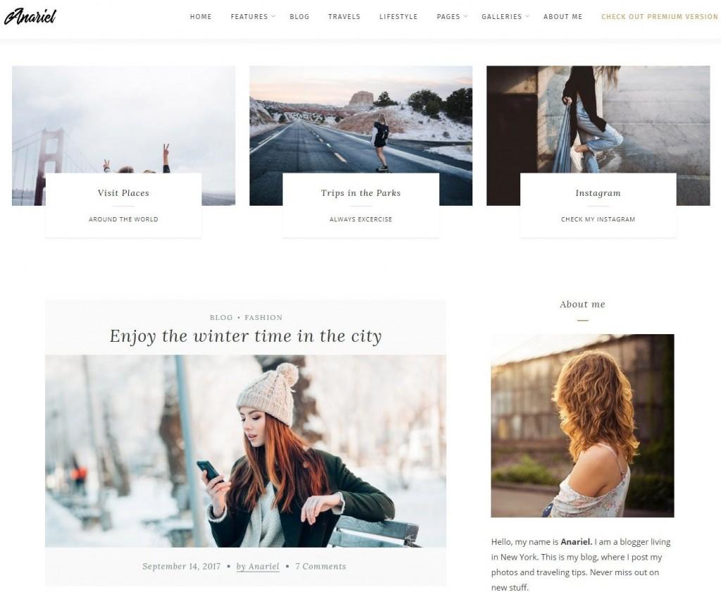 007 Staggering Free Blog Template Wordpres Sample  Wordpress Best Travel Theme Food 2020Large