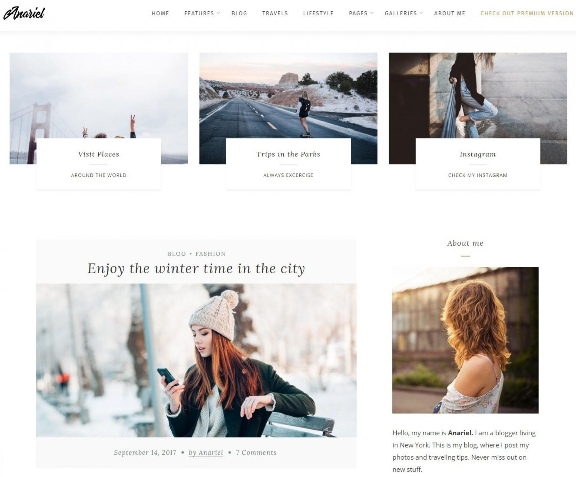 007 Staggering Free Blog Template Wordpres Sample  Wordpress Best Travel Theme Food 20201920