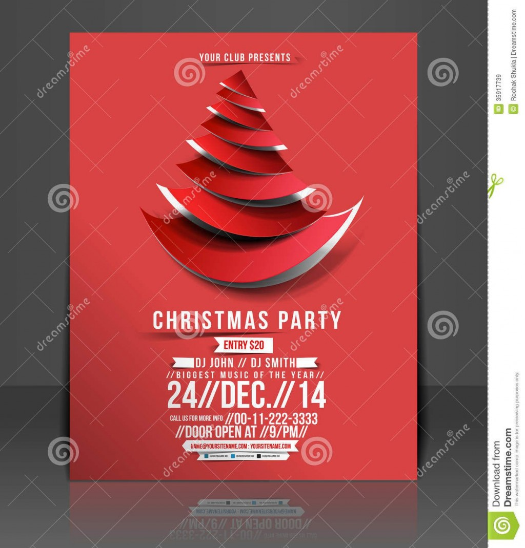 007 Staggering Free Holiday Party Flyer Template Word Inspiration Large
