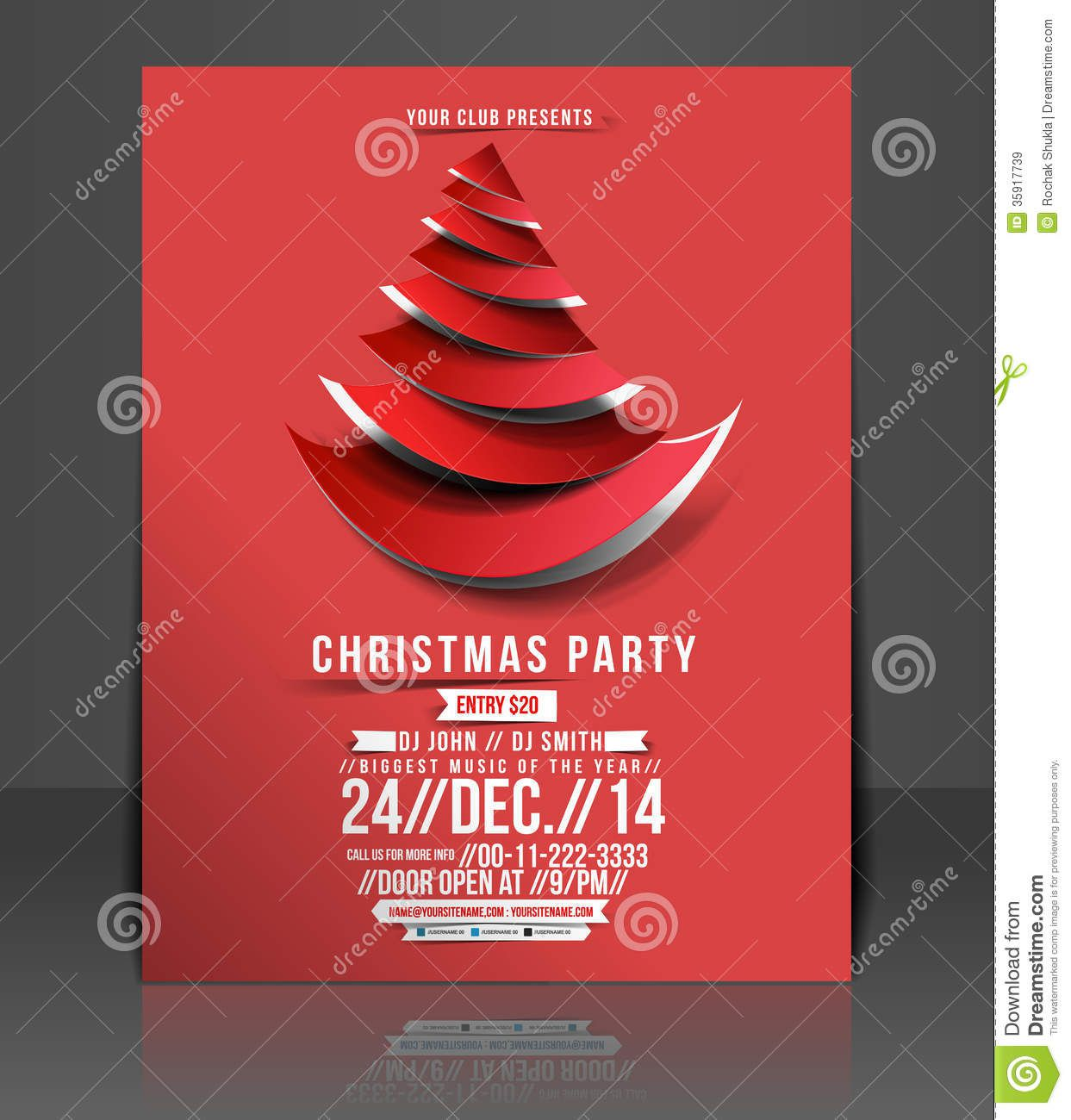 007 Staggering Free Holiday Party Flyer Template Word Inspiration Full