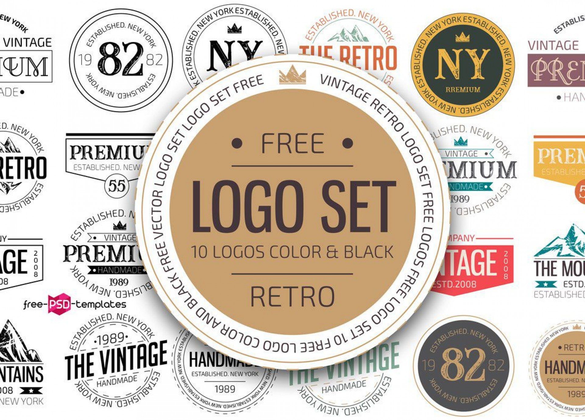 007 Staggering Free Psd Logo Template Concept  Templates Design For Photographer Dj1920