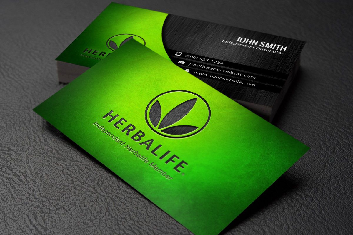007 Staggering Herbalife Busines Card Template Concept  Download FreeFull