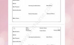 007 Staggering Nursing Drug Card Template Concept  School Download Printable