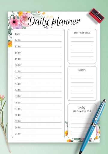007 Staggering Printable Daily Schedule Template Highest Quality 360