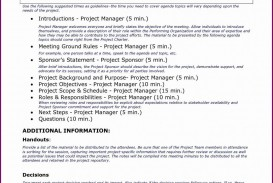 007 Staggering Project Management Kickoff Meeting Agenda Template Highest Quality