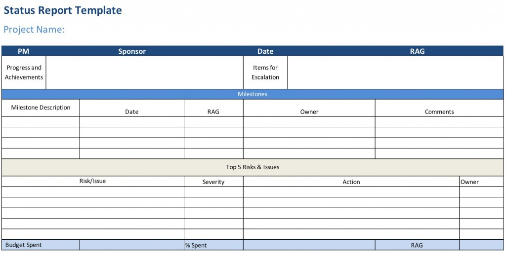 007 Staggering Project Statu Report Template Excel Example  Free Progres Format XlLarge