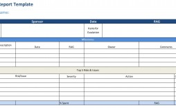 007 Staggering Project Statu Report Template Excel Example  Free Progres Format Xl