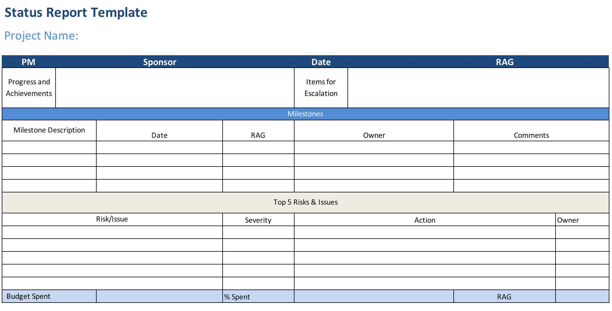 007 Staggering Project Statu Report Template Excel Example  Free Progres Format XlFull