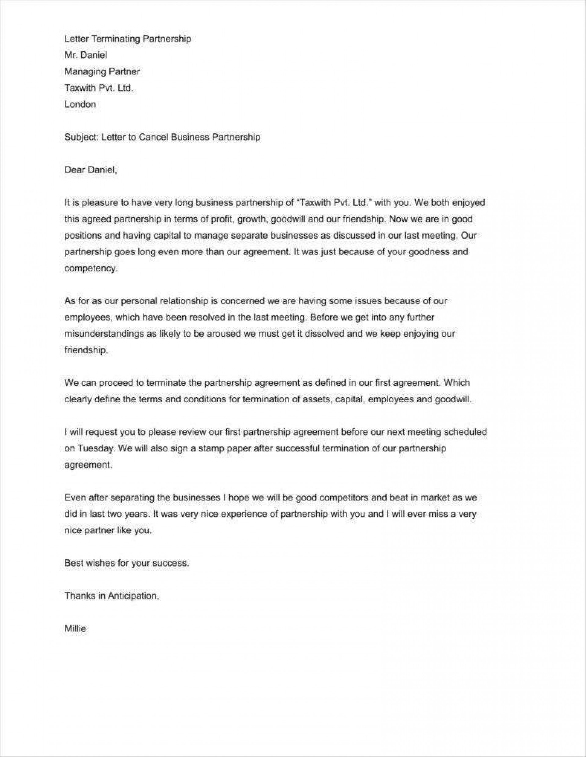 007 Staggering Sample Letter Of Agreement Template Design  For A In Project Prepare1920