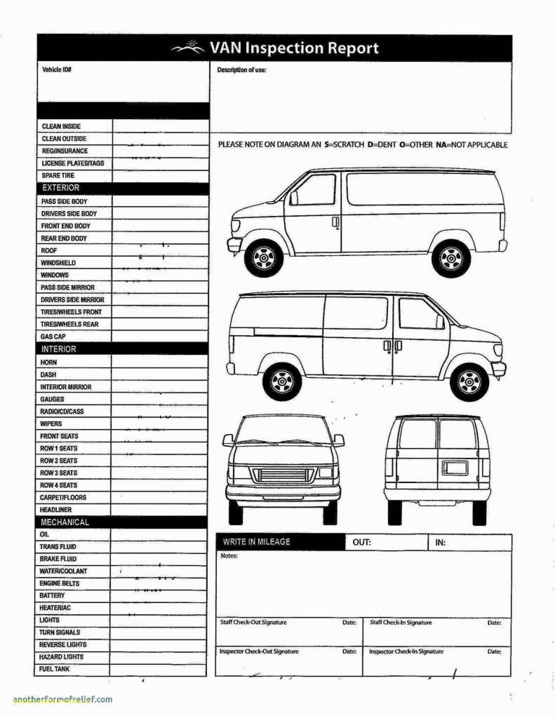 007 Staggering Truck Inspection Form Template Image  Commercial Vehicle Maintenance Free1920