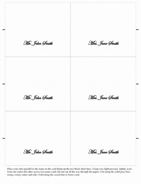 007 Staggering Wedding Name Card Template Image  Seating Chart Place Free480