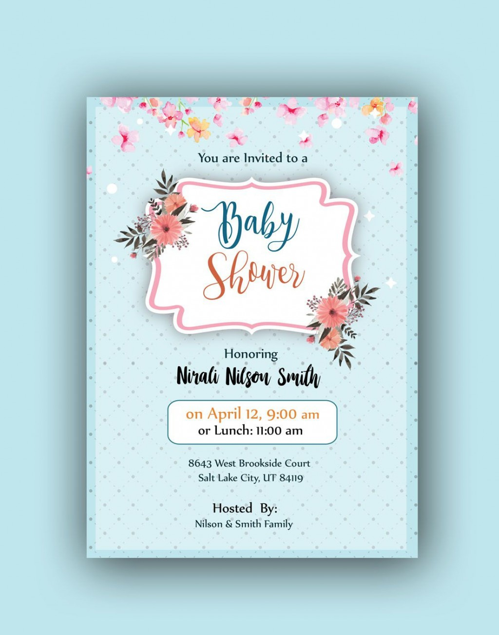 007 Stirring Baby Shower Card Template Psd Concept Large