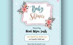 007 Stirring Baby Shower Card Template Psd Concept