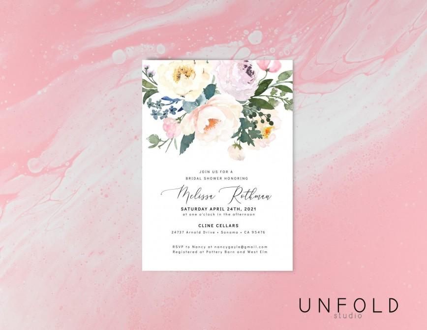 007 Stirring Bridal Shower Card Template Design  Wedding Invitation Free Download