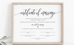 007 Stirring Certificate Of Marriage Template Sample  Word Australia