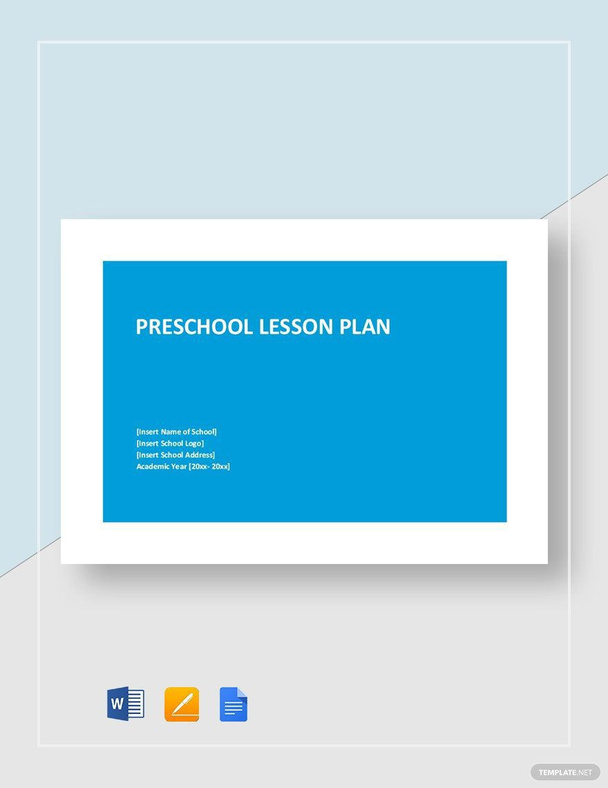 007 Stirring Daycare Lesson Plan Template Word Idea Full