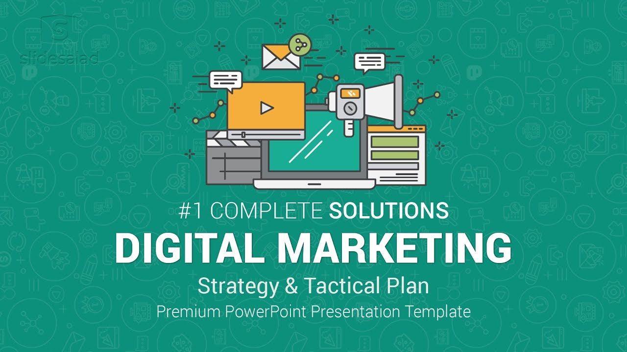 007 Stirring Digital Marketing Plan Template Ppt High Definition  Presentation Free SlideshareFull