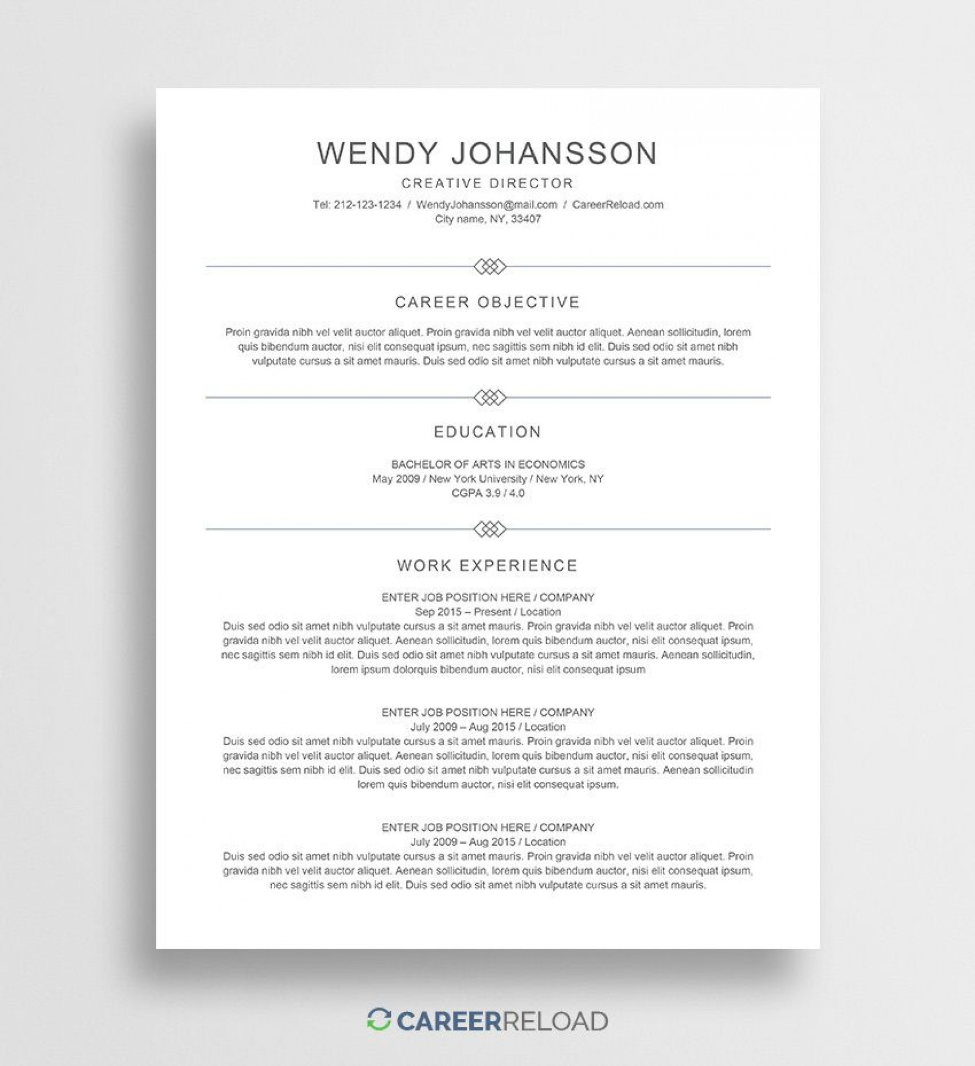 007 Stirring Entry Level Resume Template Word Example  Free For1920