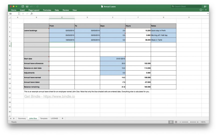 007 Stirring Excel Pto Tracker Template High Resolution  Personal Vacation 2020 Free Employee 2019