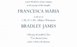 007 Stirring Formal Wedding Invitation Template Concept  Templates Email Format Wording Free